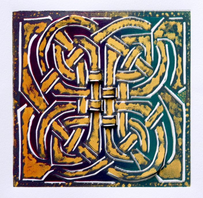 CELTIC CURVE Shortcuts series linocut 31x31cm POA