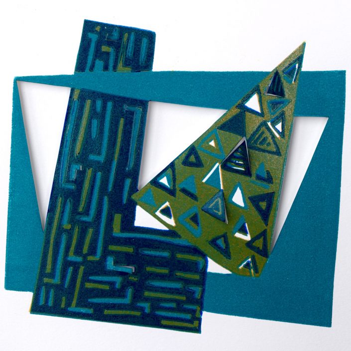 RELATING SPACE Shortcuts series linocut 31x31cm POA