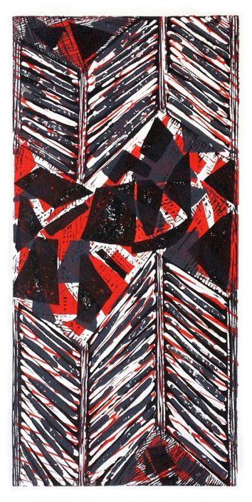 SEDIMENTARY SHIFT 2 Linocut 81x48cm POA