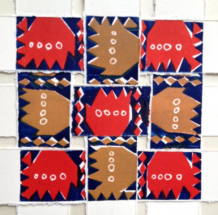 WEAVAWAVE 1 linocut 17x17cm POA