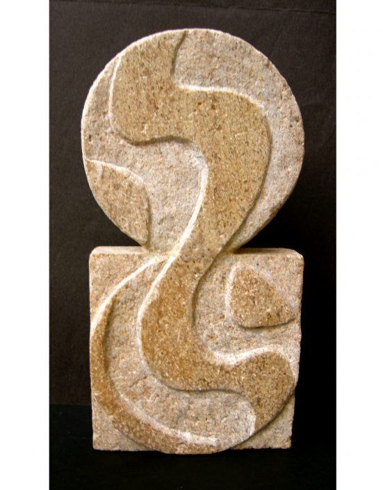 SQUARING THE CIRCLE Clipsham stone 36x18x4cm POA