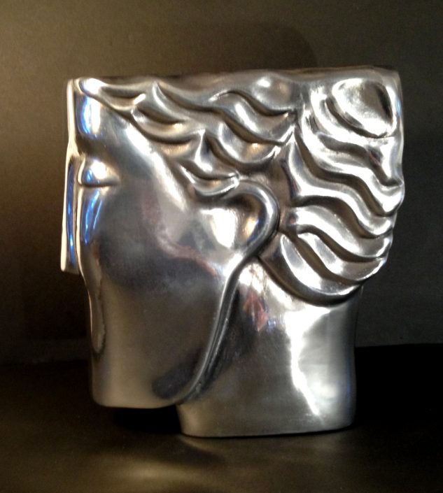 THINKING HEAD 3 aluminium 22x22x4cm POA