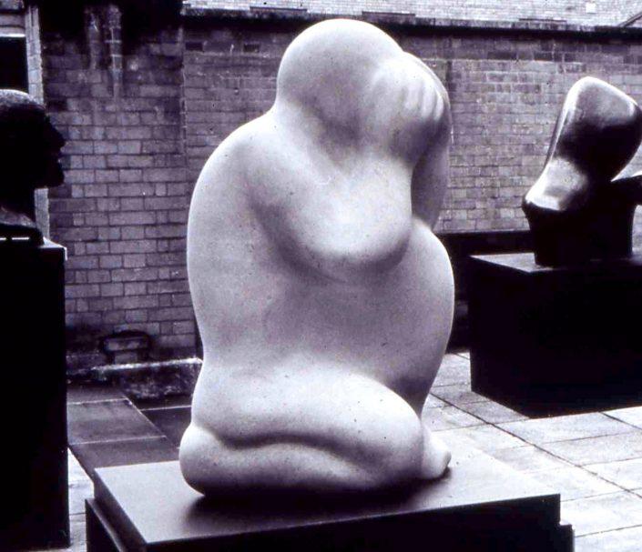 GUARDIAN FIGURE portland stone 60x40x30cm POA