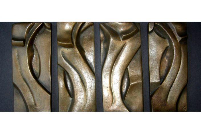 RHYTHM bronze 20x8x3cm (x4) POA
